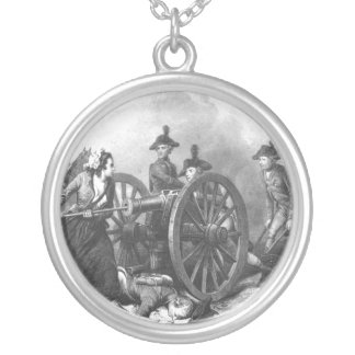 Revolutionary War Molly Pitcher Cannon Necklace