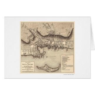 Revolutionary War Newport Map - 1777 Card