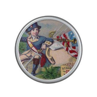Revolutionary War patriotic boy flag vintage art Bluetooth Speaker
