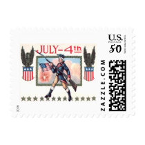 Revolutionary War Soldier American Flag Shield Postage