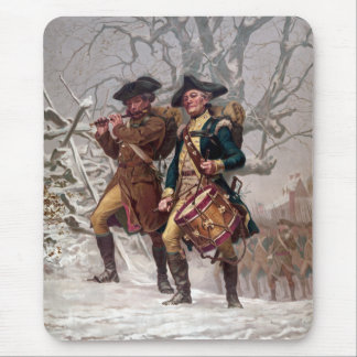 Revolutionary War Soldiers Marching Mouse Pad
