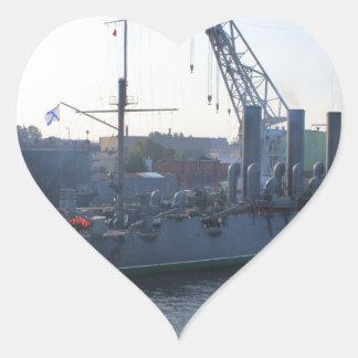 Revolutionary Warship Aurora Heart Sticker