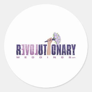 Revolutionary Weddings_final logo (updated2) Classic Round Sticker