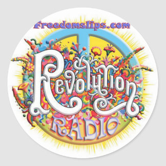 revolutionpeace classic round sticker