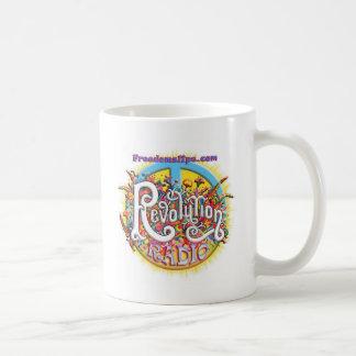 revolutionpeace classic white coffee mug