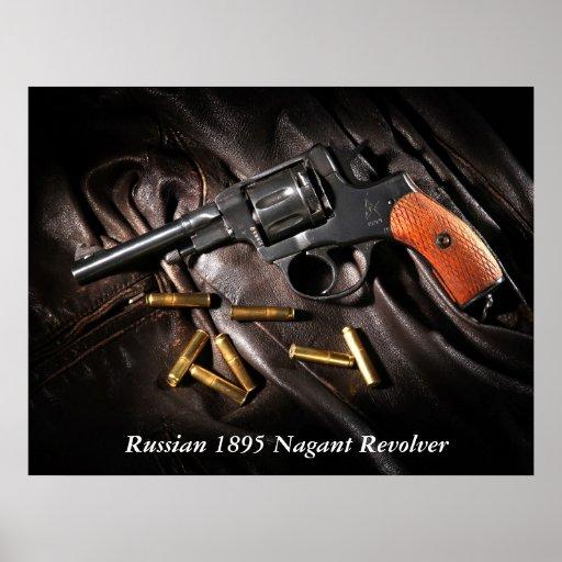 Revólver 1895 de Nagant del ruso Póster