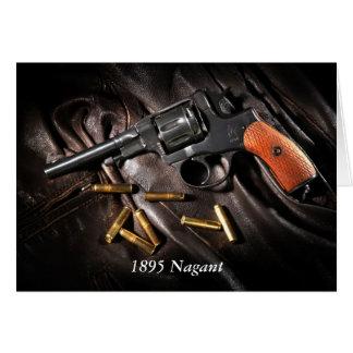 Revólver 1895 de Nagant del ruso Tarjeta De Felicitación