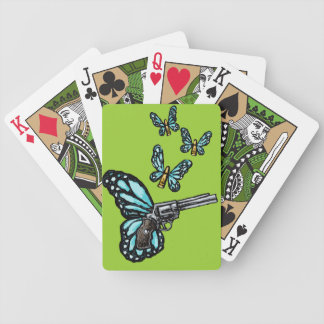 Revolver, Bullets and Butterflies Products Bicycle Playing Cards