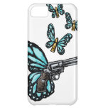 Revolver, Bullets and Butterflies Products iPhone 5C Cover