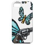 Revolver, Bullets and Butterflies Products iPhone 5 Covers