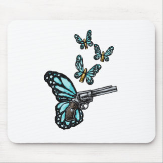 Revolver, Bullets and Butterflies Products Mouse Pad