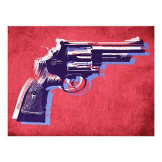 Revólver de la botella doble en rojo arte fotográfico