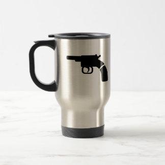 Revólver del arma taza de café