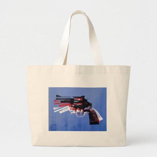 Revólver en azul bolsa