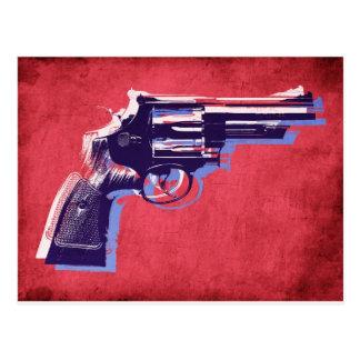 Revólver en rojo postales