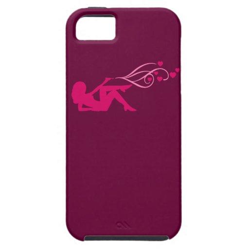 revolver girl shooting hearts iPhone 5 case