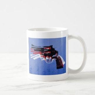 Revolver on Blue Coffee Mug