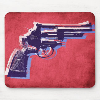 Revolver on Red Mousemat