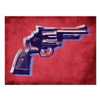 Revolver on Red Poster