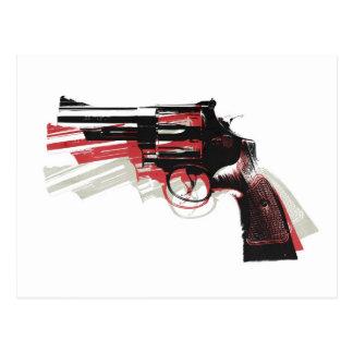 Revolver on White Postcard