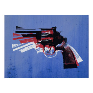 Revolver on White Posters