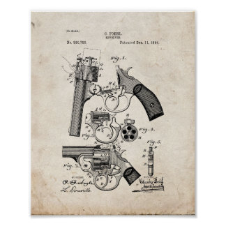 Revolver Patent - Old Look Poster