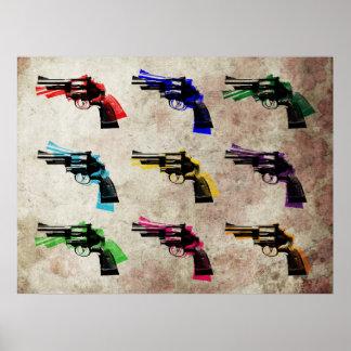 Revolver Pop Art Print