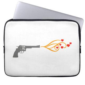 revolver shoots hearts laptop sleeve