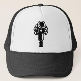 Revolver Silhouette Trucker Hat
