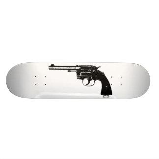 Revolver Silhouettes in Deep Black Skateboard