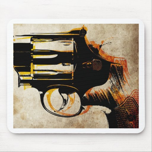 Revolver Trigger Mouse Mat