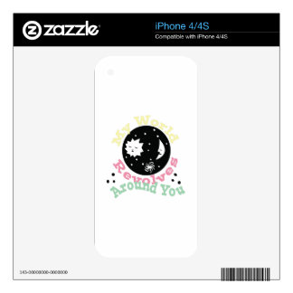 Revolves Around You iPhone 4 Decal