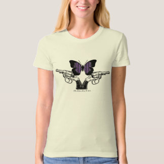 Revolving Butterfly Fitted T-shirt