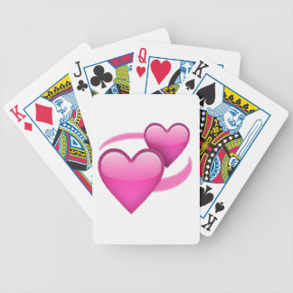 Revolving Hearts - Emoji Bicycle Playing Cards