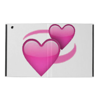 Revolving Hearts - Emoji iPad Folio Case