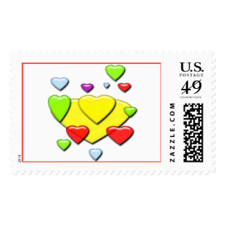Revolving hearts Postage