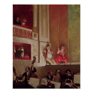 Revue at the Theatre des Varietes, c.1885 Poster
