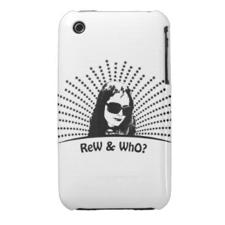 Rew & who black star logo I hone 3g case iPhone 3 Covers