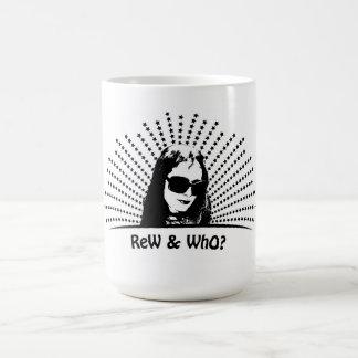 Rew & who black star logo mug
