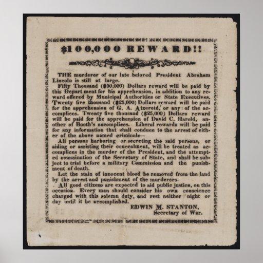 Reward Advertisement Print