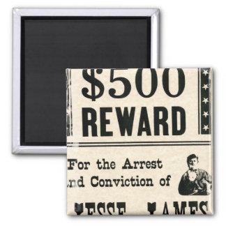 Reward for Jesse James Refrigerator Magnets