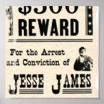 Reward for Jesse James Poster