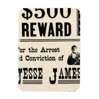 Reward for Jesse James Rectangular Magnet