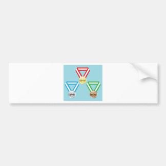Reward Medals vector Bumper Sticker