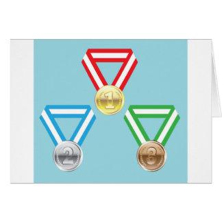 Reward Medals vector Card