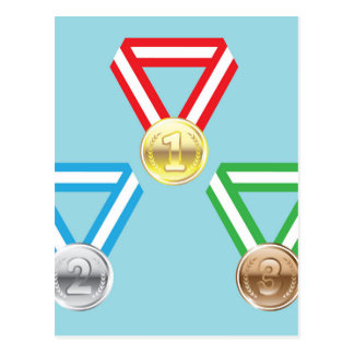 Reward Medals vector Postcard