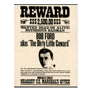 Reward Poster BOB FORD Postcards