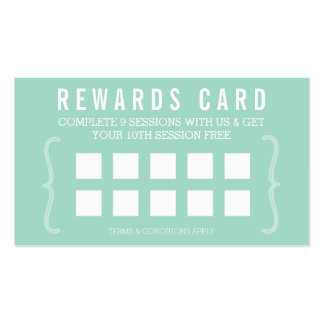 REWARD PUNCH CARD simple minimal trendy chic mint