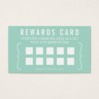 REWARD PUNCH CARD simple minimal trendy chic mint