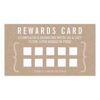 REWARD PUNCH CARD simple text minimal trendy kraft Business Card